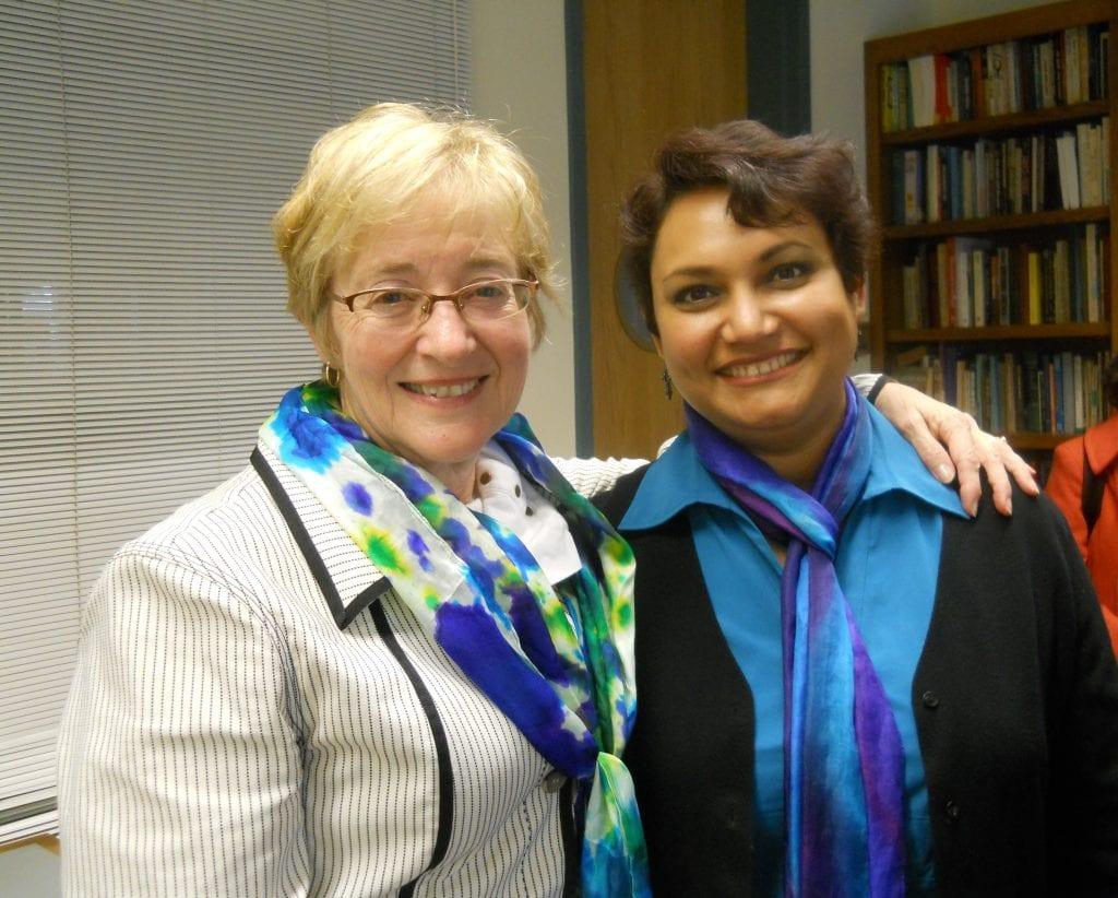 Dr. Farhana Sultana hosting Maude Barlow, Recipient of the 2005 Right Livelihood Award, at Syracuse University, 2011