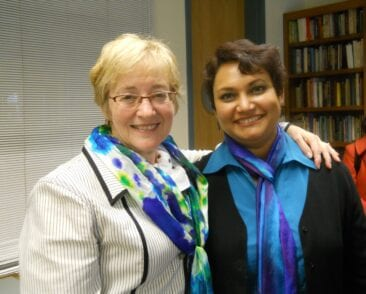 Dr. Farhana Sultana hosting Maude Barlow, Recipient of the 2005 Right Livelihood Award, at Syracuse University, 2011
