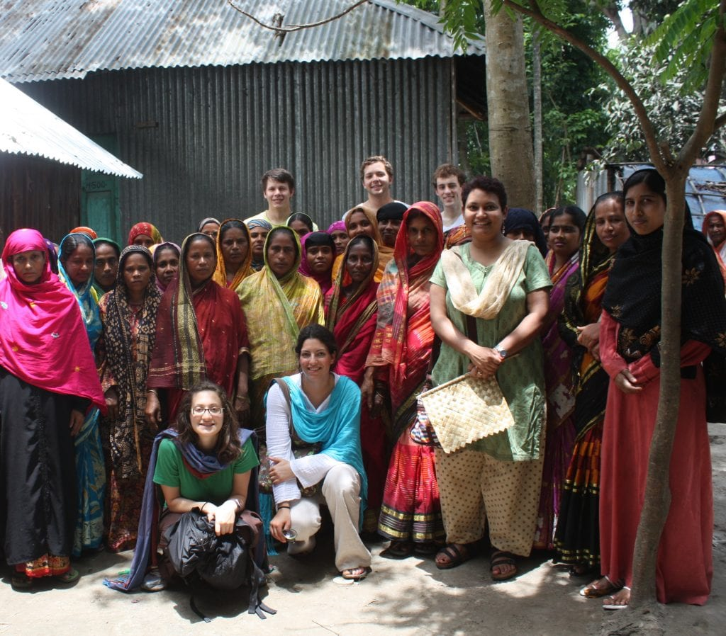 Dr. Farhana Sultana and students of Syracuse University during a field course in Comilla, Bangladesh, 2010