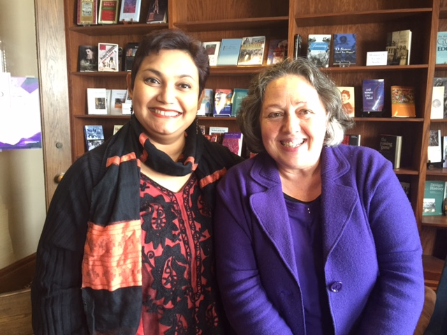 Dr. Farhana Sultana with Dr. Rosi Braidotti, renowned feminist philosopher, at Syracuse University, 2015