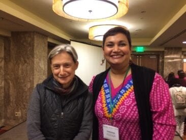Dr. Farhana Sultana with Dr. Judith Butler, renowned philosopher & Honorary Geographer, at the American Association of Geographers annual conference, 2016