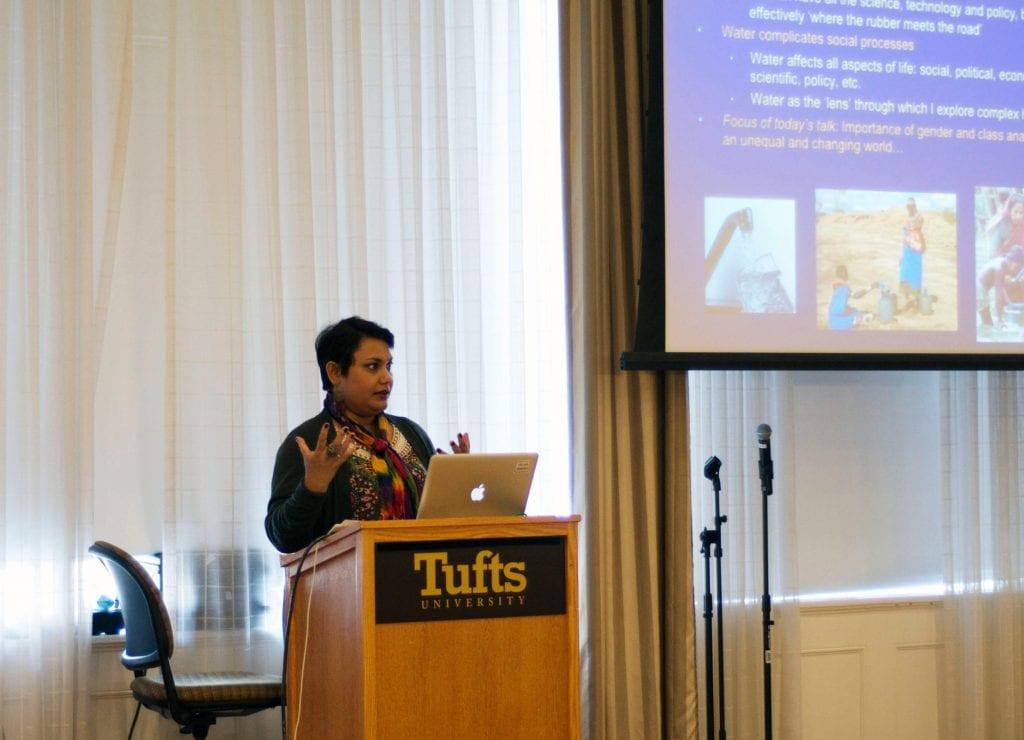 Dr. Farhana Sultana as the World Water Day speaker, Tufts University, 2014