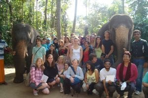 Farhana Sultana and students of King's College London field course, Kerala, India, 2006