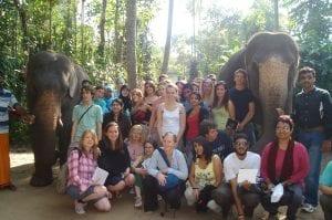 Farhana Sultana and students of King's College London field course, Kerala, India, 2006